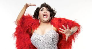 Trevor Ashley as Dame Shirley Bassey in Diamonds are for Trevor